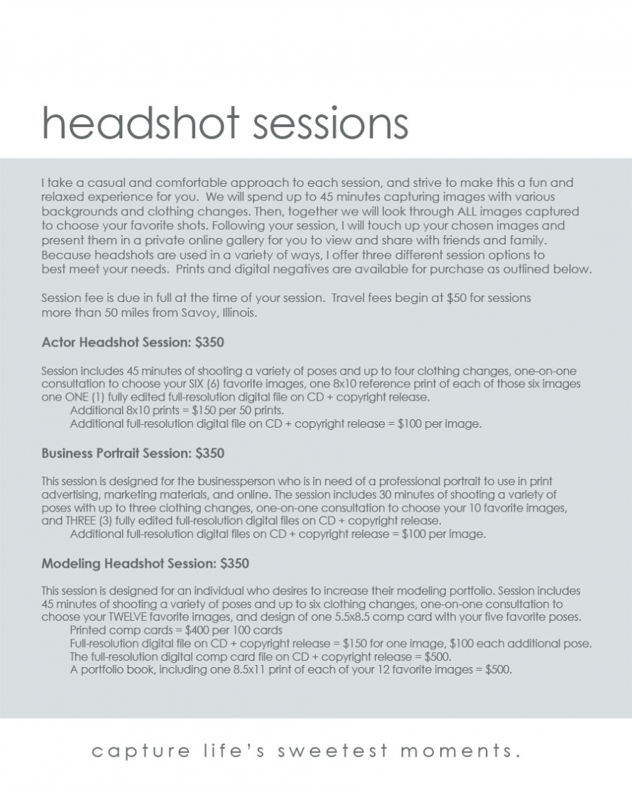 headshot session info2010